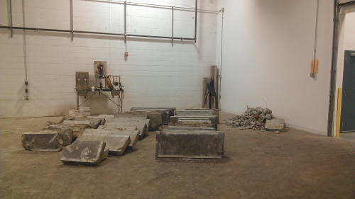 Concrete slabs! Guest starring: our canning system.