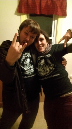 Enjoying our NERAX shirts after the NERAX North festival