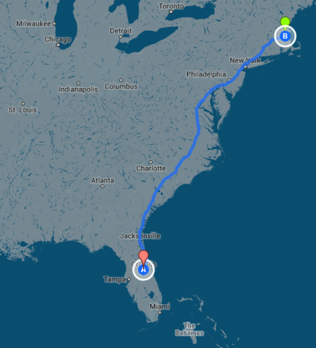 Our brewhouse journeyed by train from FL to MA