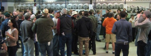 NERAX-goers among a multitude of casks