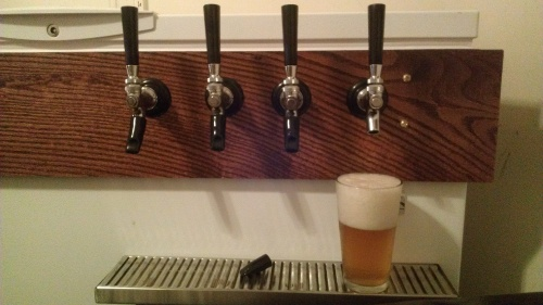 Taps installed and flowing!
