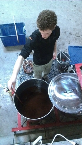 Dan stirs a heady brew