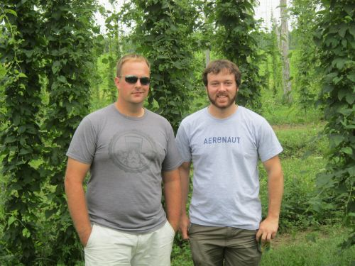 Me and Peter at the Hop Yard.